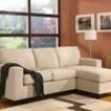 Vogue Reversible Chaise Sectional Sofa in Beige, Brown or Red for $324 + Shipping
