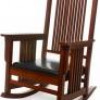 Carolina Cottage Mission Rocker + Leatherette Upholstered Seat for $180 + Shipping