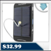 Solar ReStore External Battery Pack w/Universal USB Charging Port for Smartphones, Kindle, iPhone, MP3 and Other USB-Powered Devices $32.99