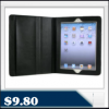 iPad 2 slim fit black leather case – supports typing, horizontal & vertical stand $9.80