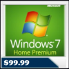 Microsoft Windows 7 Home Premium 64BIT Operating System Software – OEM DVD, English $99.99