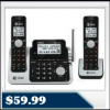 AT&T CL83201 DECT 6.0 Digital 2 Handset Phone +Answerer $59.99