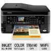 Epson WorkForce 645 Wireless All-In-One Color Inkjet Printer &#8211; Copy, Scan, Fax, Up to 15ppm mono; 7.2ppm color; 5760 x 1440 dpi; Auto Document Feeder, Borderless Prints for $99.99