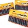 Kodak Xtralife Alkaline Batteries, 72-Pack (Choice of AA or AAA) for $15 + Shipping