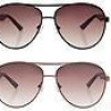 Emporio Armani Unisex Aviator Sunglasses (Choice of 2 Colors) for $40 + Shipping