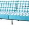 Union Futon + Metal Legs and Teal Dot Fabric Pattern for $162 + Shipping