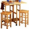 Spacesaver 3 Piece Square Breakfast Set, Natural for $112 + Shipping