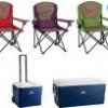 Choice of 2 Coleman Quad Chairs and Coleman Cooler Bundle for $75 + Shipping