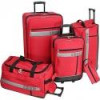 Izod Luggage Metro 5-Piece Luggage Set (Black or Red) for $100 + Shipping