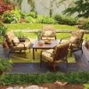 Hometrends Tropical Palm 5-Piece Conversation Set, Tan for $298 + Shipping