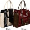 London Fog Essex Colorblock Patent Tote Bag (Black or Rouge) for $70 + Shipping