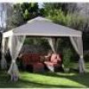 Portable 12′ x 9′ Outdoor Patio Gazebo + Corner Curtains for $169 + Shipping