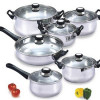 Home Collections 12 Piece Stainless Steel Cookware &#8211; Prepare Your Own Meals! for $36.99