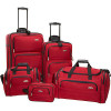 Samsonite 5-Piece Travel Set &#8211; Red for $109.99
