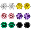 3.00 Ct Cubic Zirconia CZ Round Post with friction back Stud Earrings 6MM for $3.49