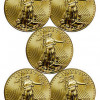 Lot of 5 &#8211; 2013 $50 1 Oz Gold American Eagle SKU27345 for $7596.93