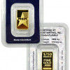Sunshine Minting 1/10 Oz .9999 Gold Bar -MCM STAR- SEALED w/Serial # SKU27984 for $169.65