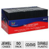 Color Research 50-Pack Slim Jewel Cases – 50 Pack, For CD, DVD, and Blu-ray Media for $11.99