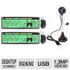 1.3MP 5″ Flexible Neck Webcam with Microphone and (2-Pack) EZ Eyes Deluxe Glow-in-Dark Keyboard & Mouse Bundle for $9.99