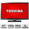 Toshiba 24″ Class LED HDTV – 1080p, 60Hz, HDMI, USB, PC Input, DynaLight, Energy Star (Refurbished) for $149.99