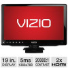 Vizio 19″ Class Edge Lit LED HDTV – 720p, 1366 x 768, 60Hz, 20000:1 Dynamic, 5ms, HDMI, Energy Star (Refurbished) for $9…