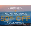 Additional 50% Off American Eagle Clearance!