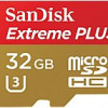 SanDisk 32 GB Micro SD Card Extreme PLUS Flash Memory Card – Class 10 for $10.97