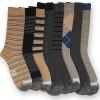 Ike Behar Men's 8-PK Pattern Crew Socks for $15.99