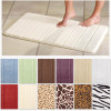 2 Pack: Micro Luxe Memory Foam Bath Rugs in Solid or Safari Styles! for $14.99