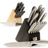 Choice: Emeril 14-Piece Forged Stainless Steel Block Set in Black or Natural Wood! for $39.99