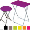 Multipurpose Folding Table with Matching Stool in 8 Vibrant Colors! for $29.99
