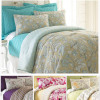 Pacific Coast 6-Piece Reversible Overfilled/Oversized Comforter and Coverlet Set in Queen or King-4 Designs! for $49.99