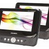 Sylvania Dual Screen Car DVD Player w/Two 7″ Displays, Headrest Mounts, Remote Control & Headphone Jacks! for $59.99