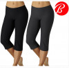 2-Pack: Bally Total Fitness Slim-Fit Performance Capri Leggings in Black and Grey! for $29.99