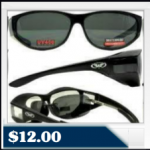 Escort Fit Over Glasses Sunglasses with Smoked Lenses Has Matching  $12.00