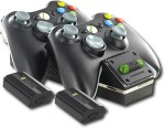 XBOX 360 BLACK NYKO CHARGE BASE Dual-Port Controller Charging Battery System for $23.99 +Free Shipping