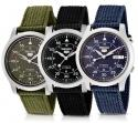 Seiko 5 Military Automatic Movement Canvas Strap Men's Watch for $60 + Shipping